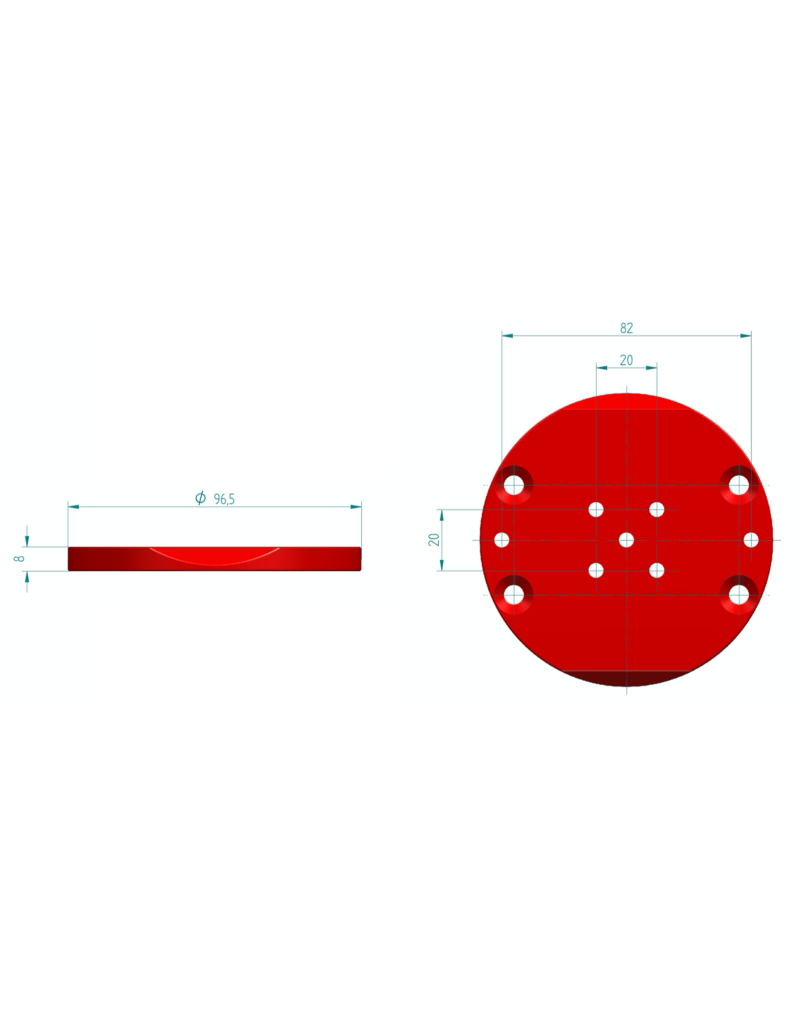PrimaLuceLab Primaluce AZ-EQ5 PLUS Adapter Plate - PLLFLAZEQ5