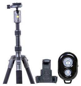 Vanguard Vanguard VEO 3 GO 204AB Aluminum Tripod / Monopod with Ball Head, Bluetooth Remote, SPC