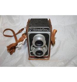 Ricoh Super Ricohflex 120 Film TLR Camera 80mm F3.5 Lenses w/ Leather Case