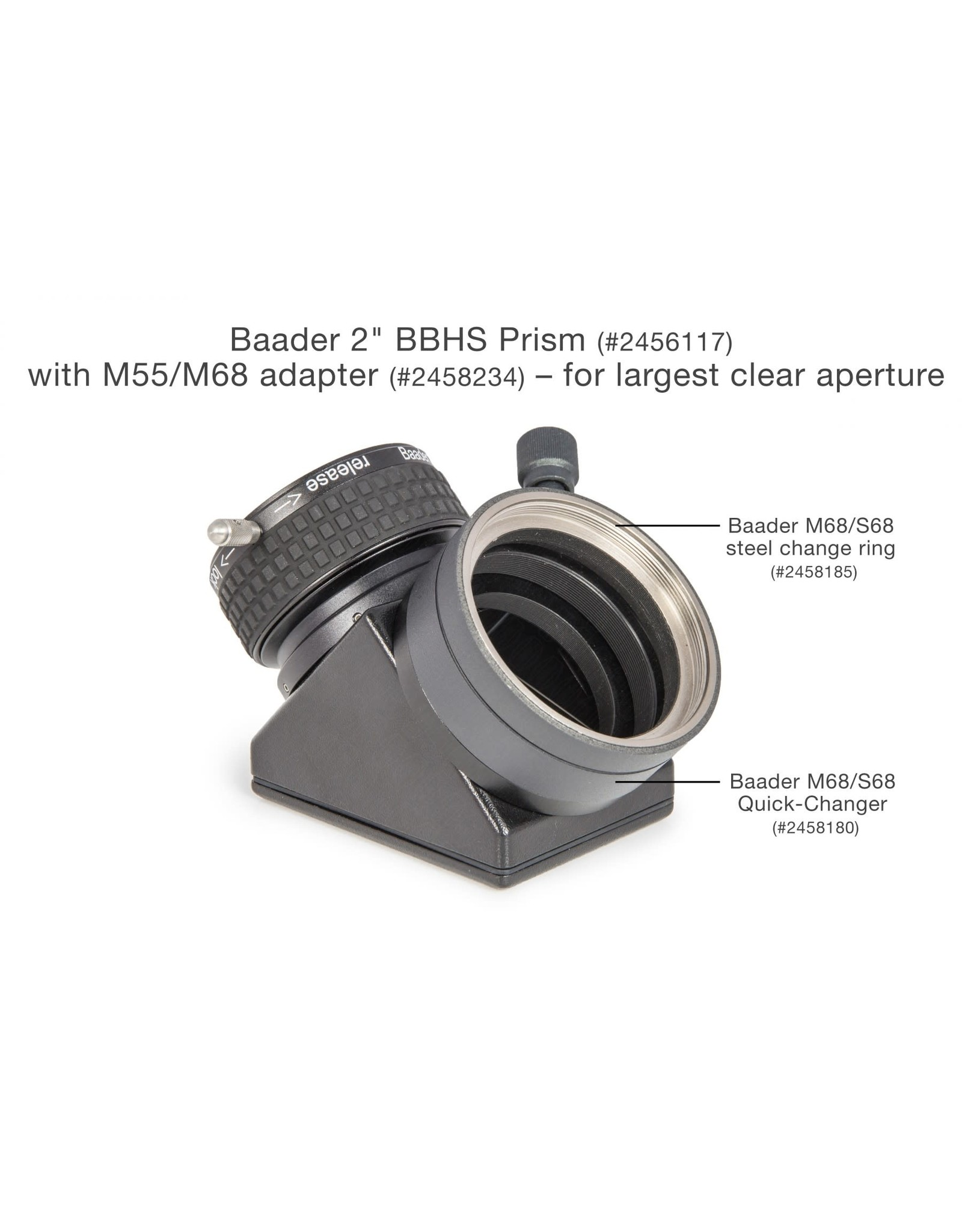 """Baader Planetarium Baader Planetarium 2"""" Zeiss Prism Star Diagonal with BBHS Coatings & 2"""" ClickLock Eyepiece Clamp - PRISM-2Z"""