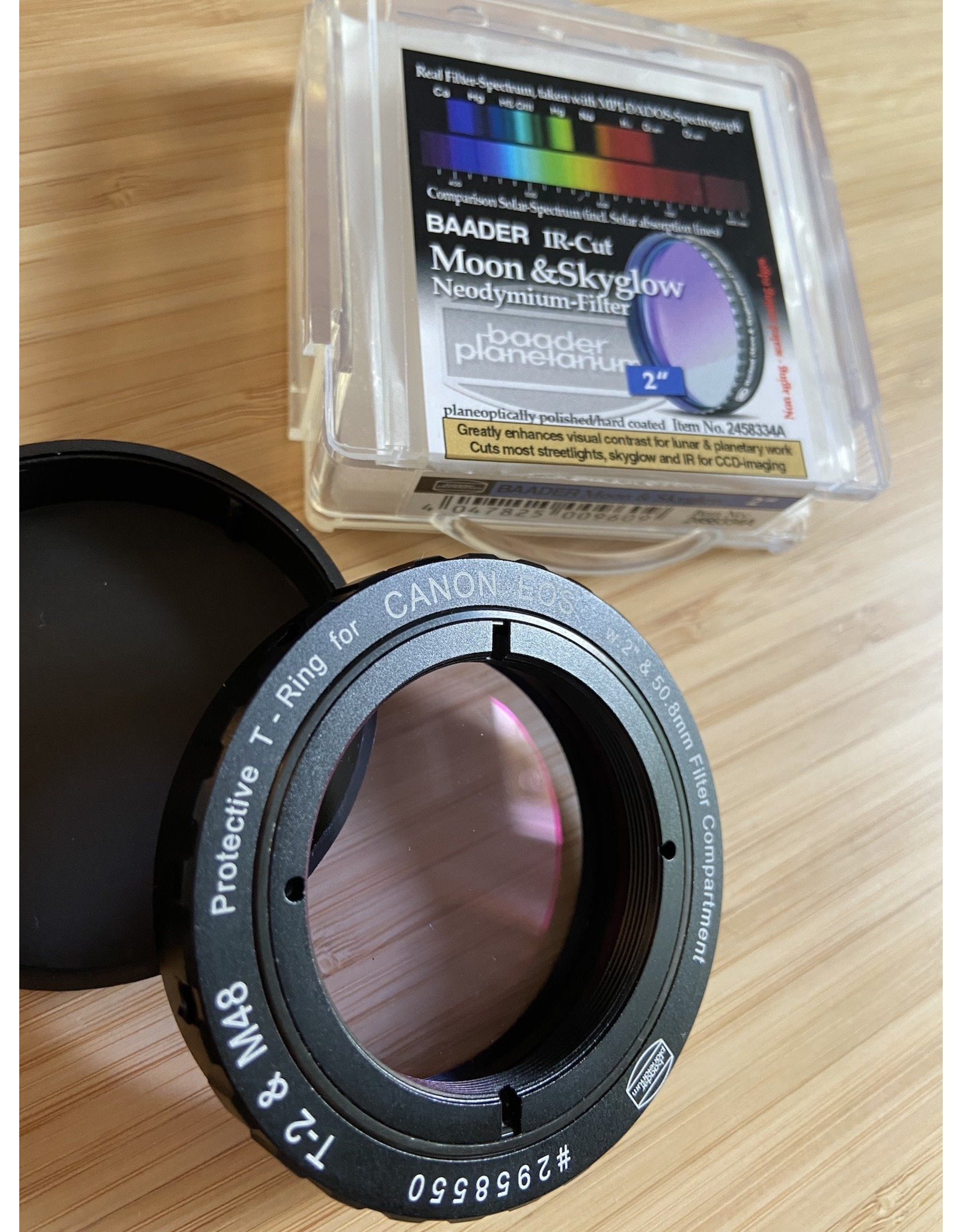 "Baader Planetarium Baader zero-tolerance protective Canon DSLR T-Ring T-2/M48 and 2"" (UV/IR BLOCKER)"