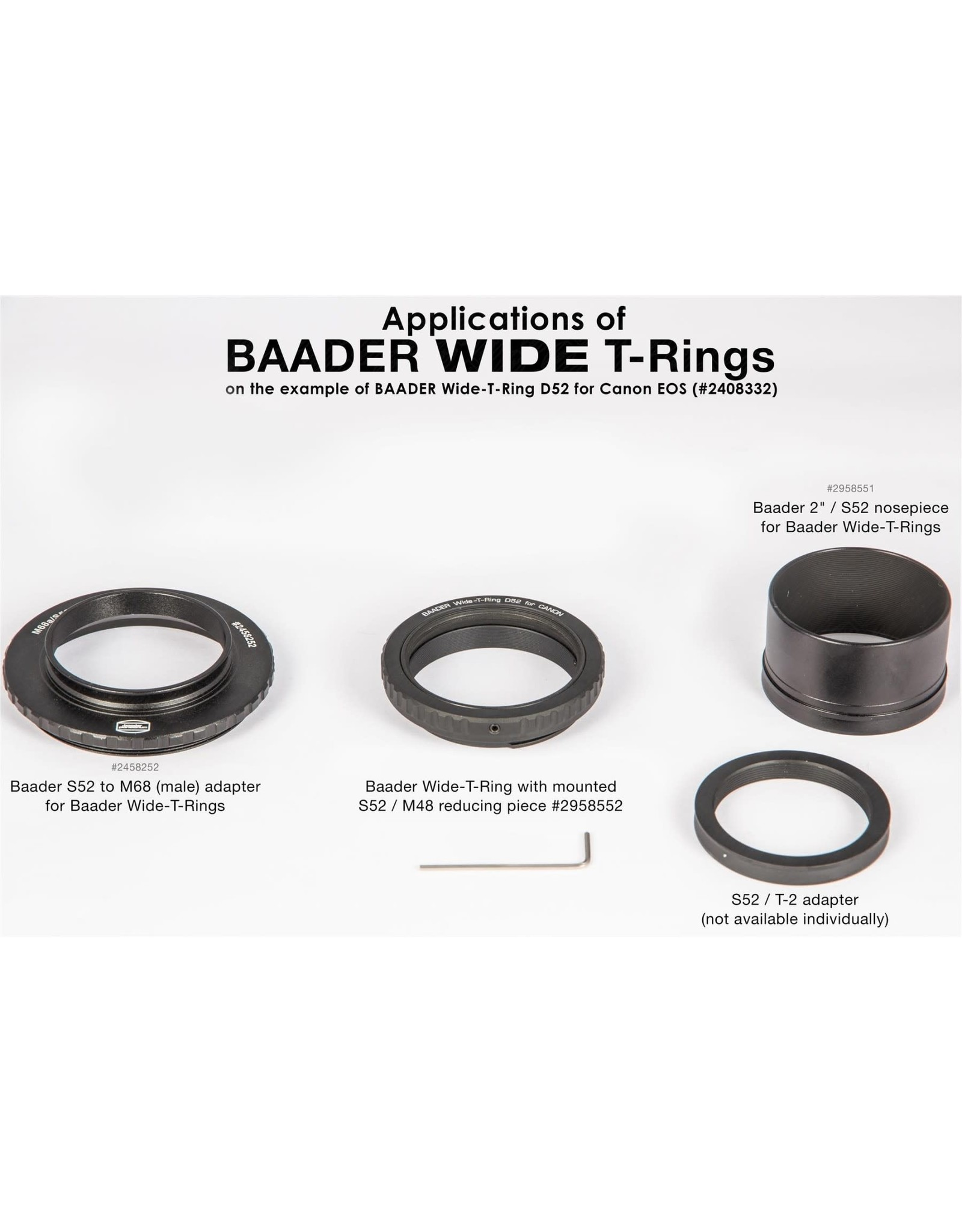 Baader Planetarium Baader Wide-T-Ring Canon EOS with D52i to T-2 and S52