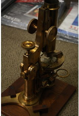 Antique Brass Walter H. Bulloch Microscope with Eyepieces