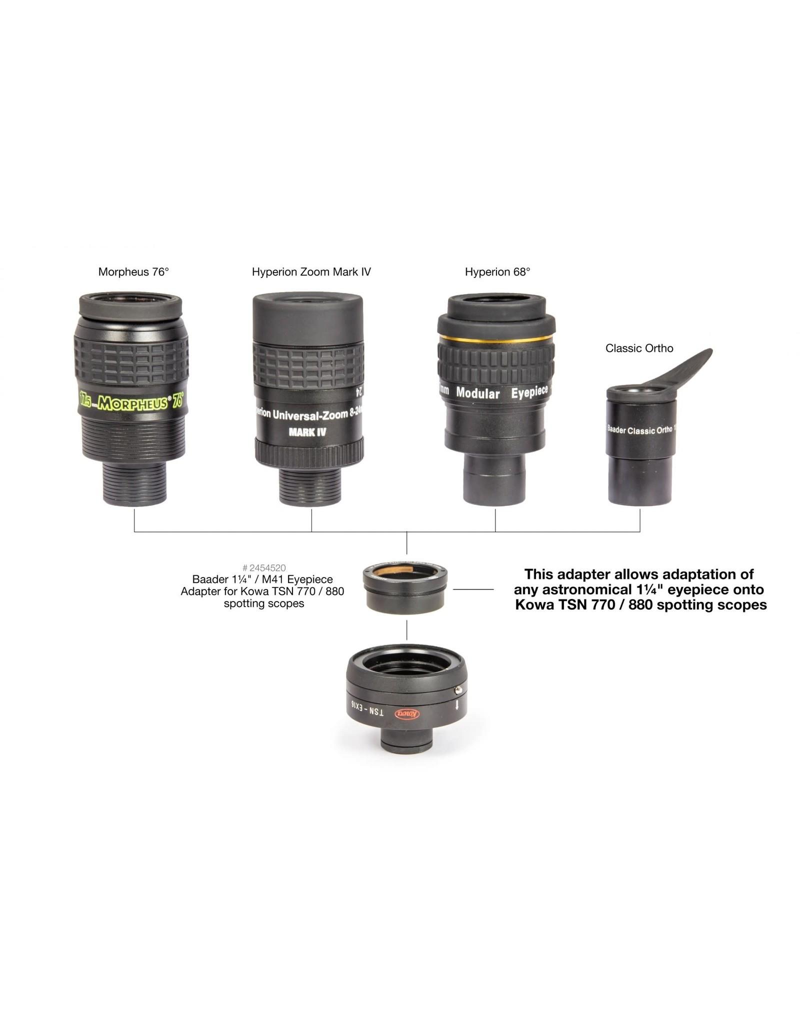 "Baader Planetarium 1¼"" / M41 Eyepiece-Adapter for Kowa TSN 770 / 880 Spotting Scopes"