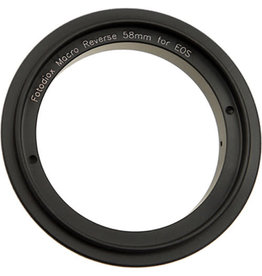 FotodioX 58mm Reverse Mount Macro Adapter Ring for Canon EF-Mount Cameras