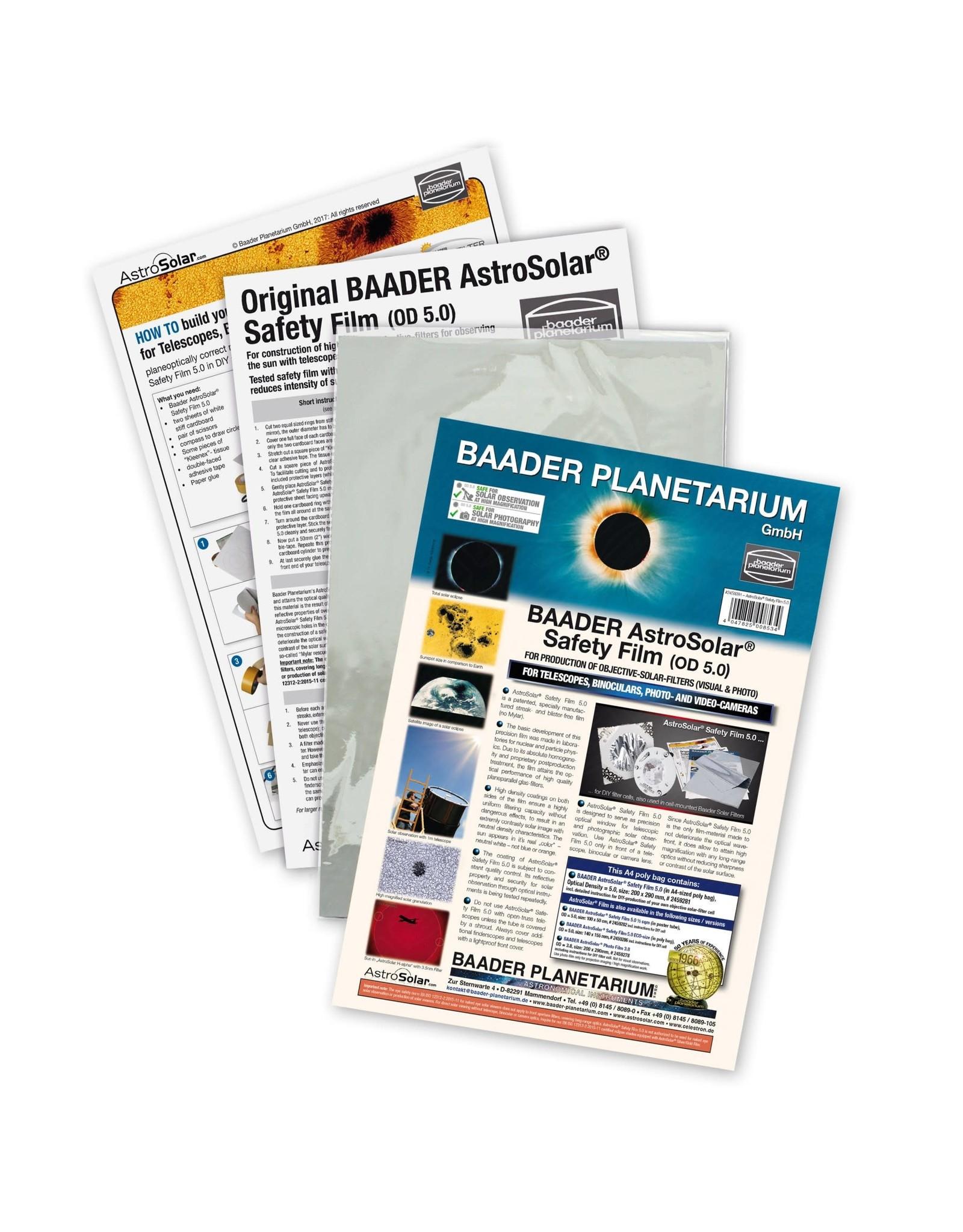 Baader Planetarium AstroSolar® Safety Film OD 5.0 (100 x 50 cm)
