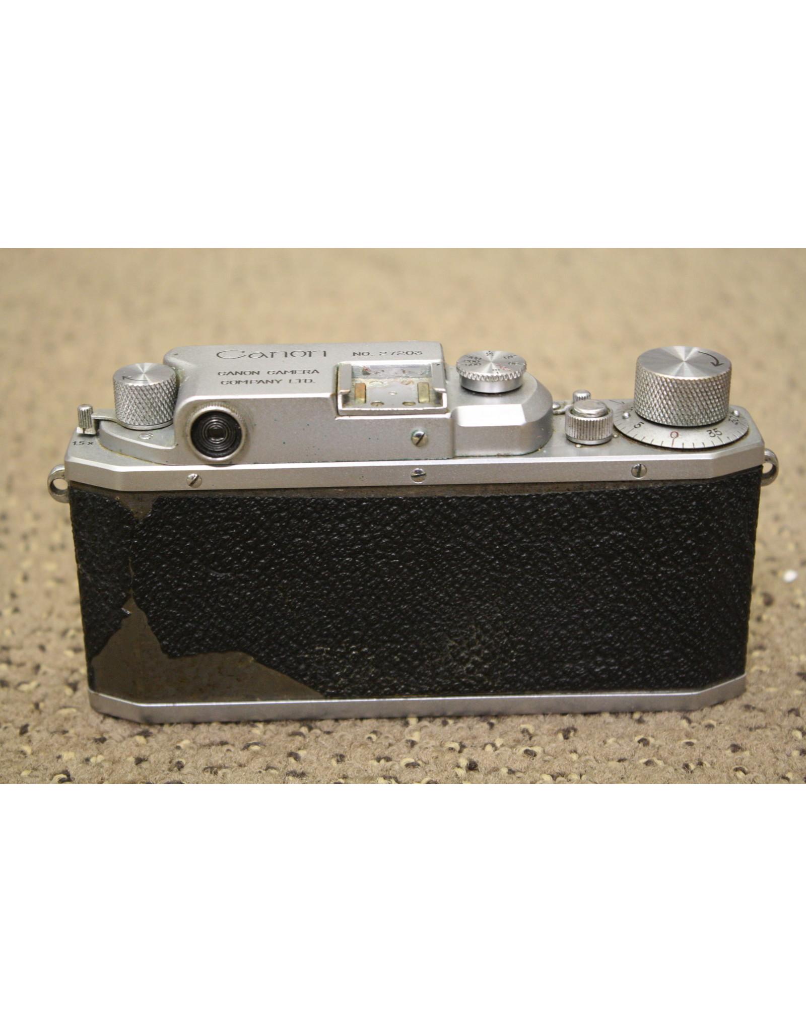 Canon CANON IIB RANGEFINDER CAMERA BODY  & CASE PLUS ACCESSORIES! (BROKEN SHUTTER)