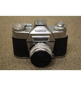 Canon Voigtlander Bessamatic Film Camera Color Skopar 50mm 2.8 Lens Germany OUTFIT (SHUTTER NEEDS CLA