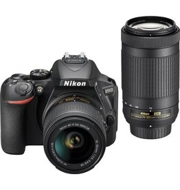 Nikon Nikon D5600 DSLR Camera with 18-55mm & 70-300 Lens (Black)
