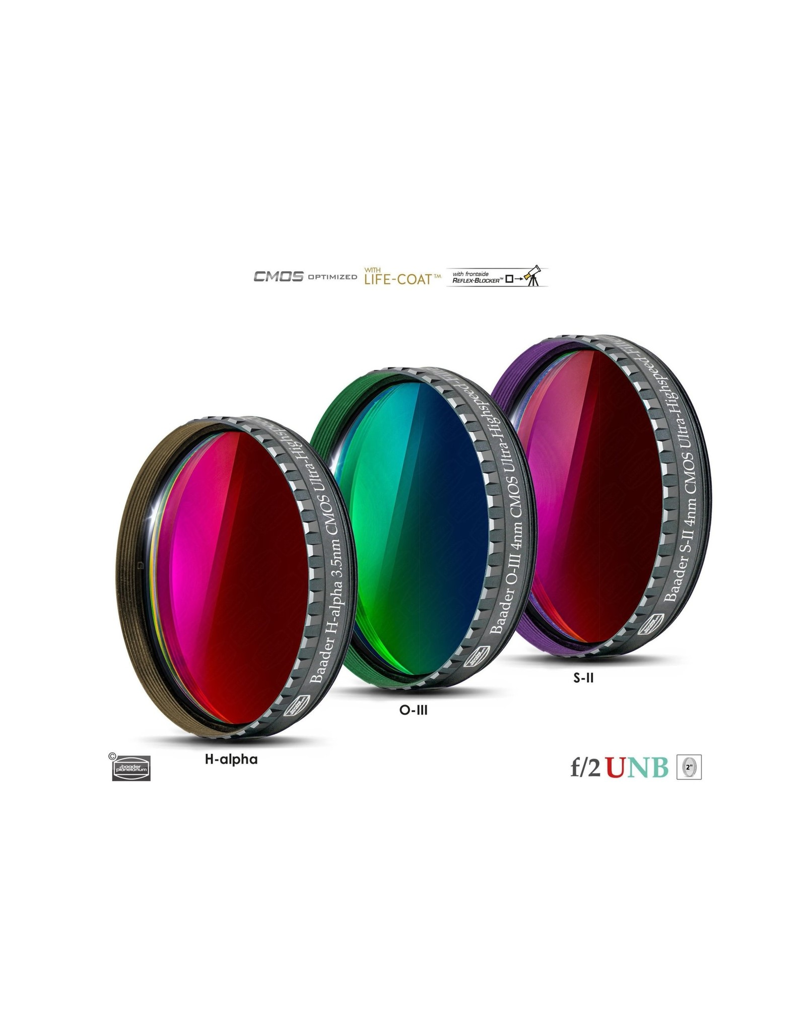 Baader Planetarium Baader 4nm f/2 Ultra-Highspeed Oxygen-III Filters – CMOS-optimized (Specify Size)