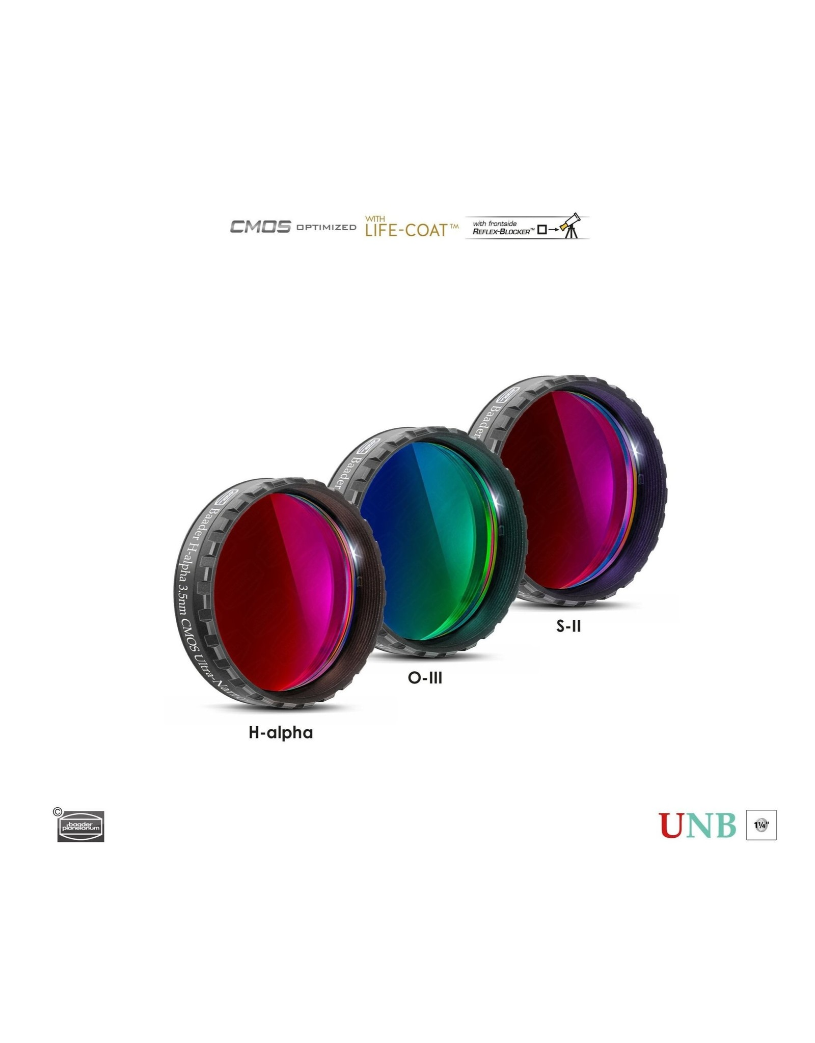 Baader Planetarium Baader 4nm Ultra-Narrowband Oxygen-III Filters – CMOS-optimized (Specify Size)