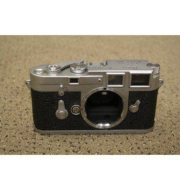 Leica SLR M3 double stroke film Camera Body with Case (SHUTTER NOT WORKING)
