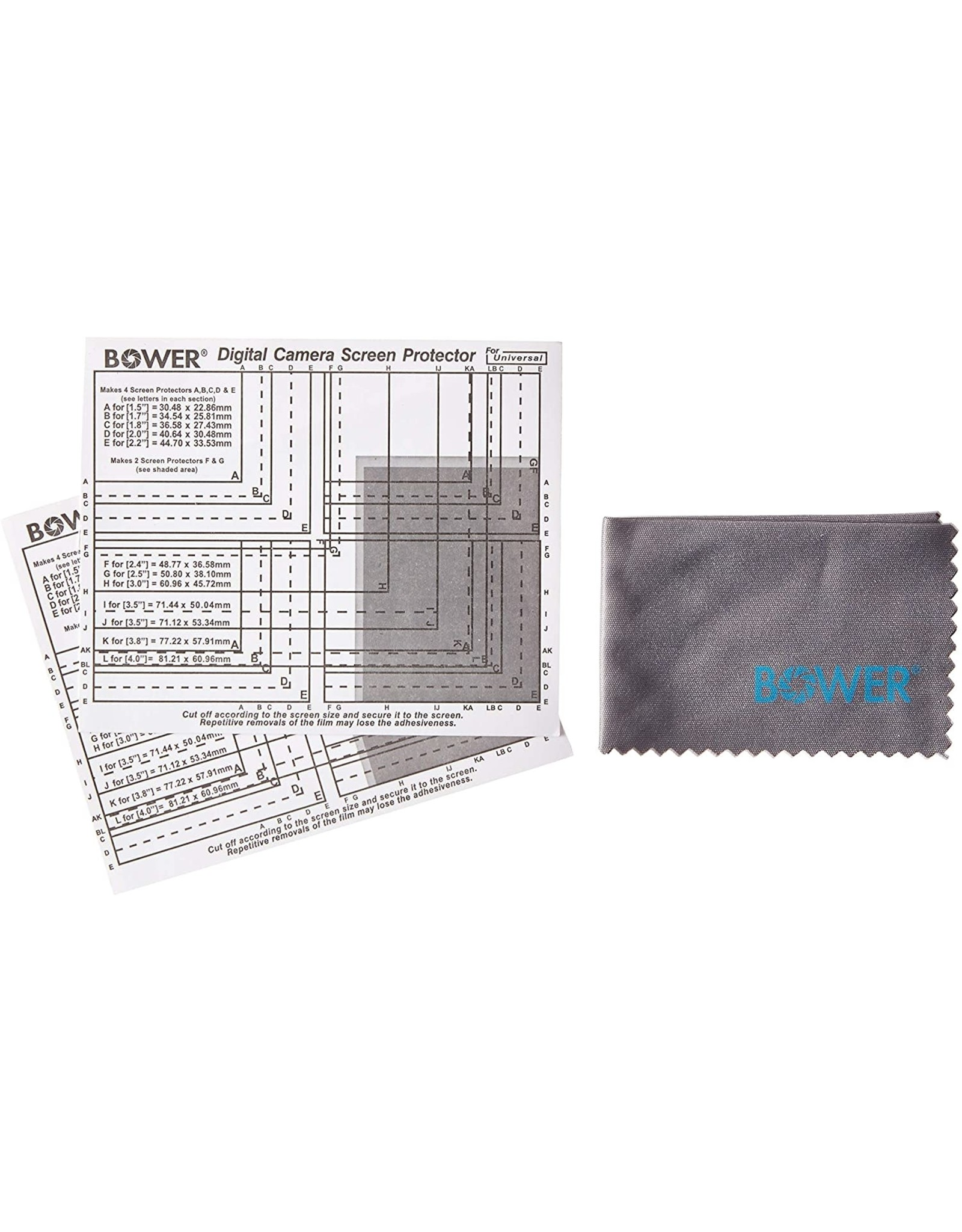 Bower Bower SAD12 LCD Universal Screen Protector for Displays up to 4 Inches - SAD12