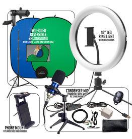Smith-Victor Smith-Victor Basic Smartphone/10″ Ring-Light Desktop Work-From-Home AV Kit