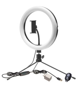 Smith-Victor Smith-Victor Tri-Color 10″ LED Ring Light Kit