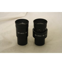 CPi W10x22 Microscope Wide Eyepieces 30mm Diameter FOV 22mm (Pair)