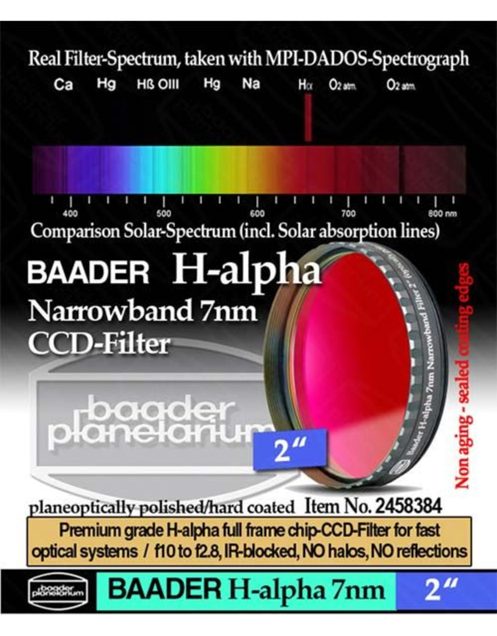 Baader Planetarium Baader Set of 3 Narrowband Filters (H-a/O-III/S-II) 1.25""