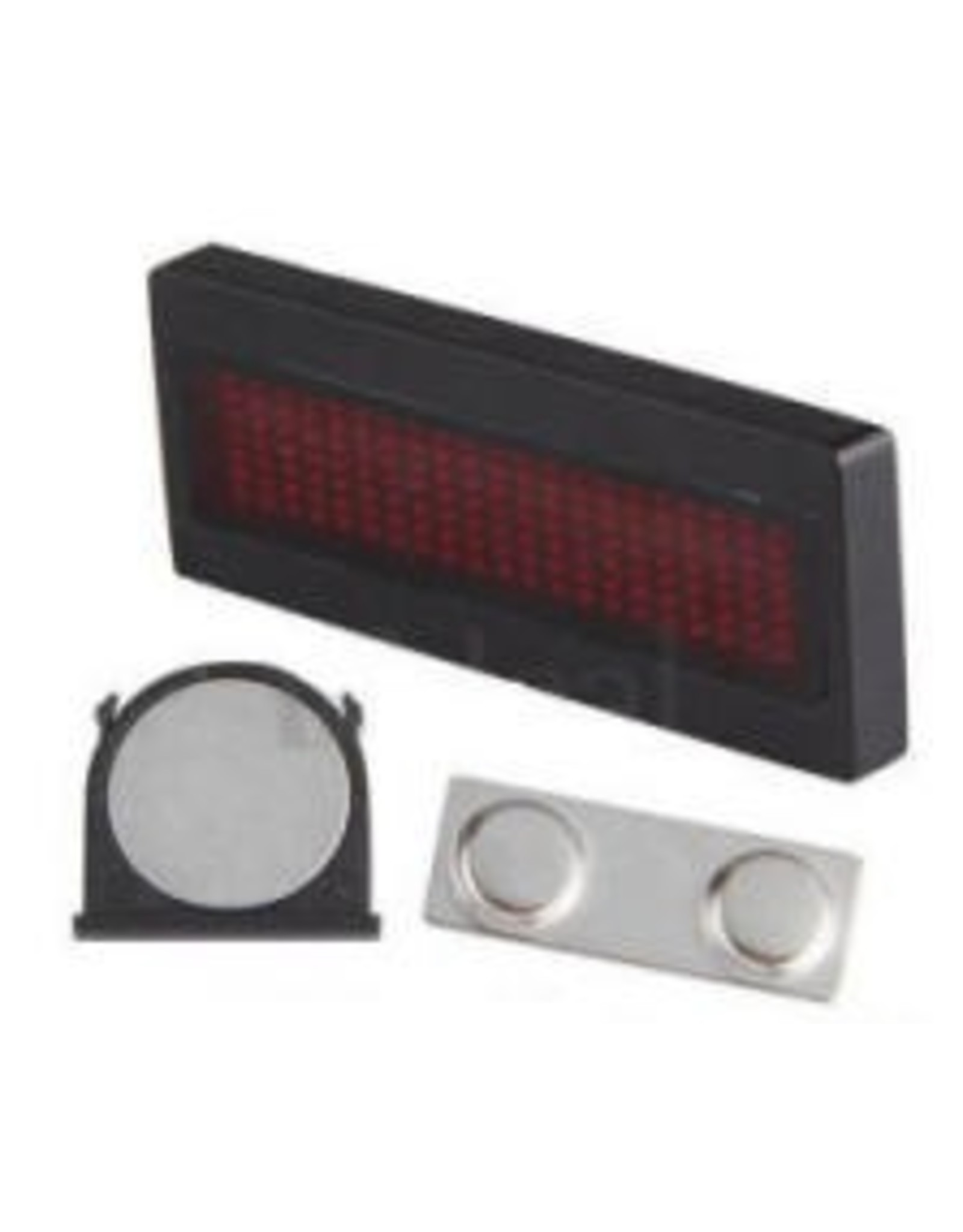 Arcturus Red LED Scrolling Name Badge