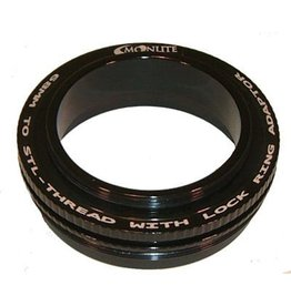 Moonlite MoonLite 2 1/2 inch 68mm thread to STL-thread with Lock Ring Adapter (Model 68mmto-STL-thread-LR-Adapter)