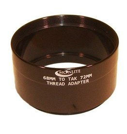 Moonlite MoonLite 2 1/2 inch 68mm thread to TAK 72mm thread Adapter (Model: 68mmto-TAK-thread-Adapter)