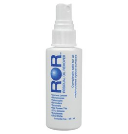 ROR Residual Oil Remover Lens Cleaner -- 2 ounce pump
