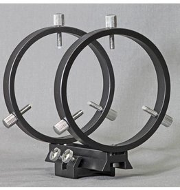 Stellarvue Stellarvue 80 mm Finder Rings - Mounts to SV Clamshells, Flat or Curved Surface - R080AT