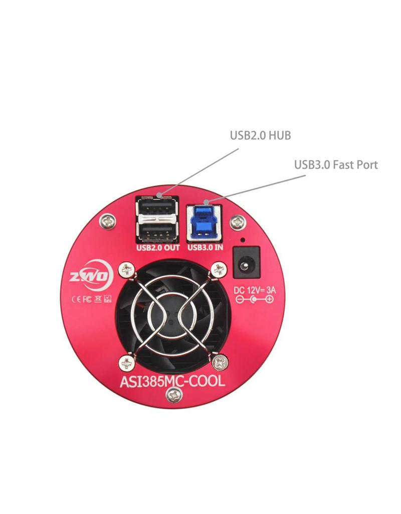 ZWO ZWO ASI385MC (4.63 microns) Cooled Color USB 3.0