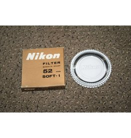 NIKON BRAND 52mm SOFT 1 OPTICAL GLASS SCREW in FILTER GENUINE ORIGINAL