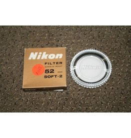 NIKON BRAND 52mm SOFT 2 OPTICAL GLASS SCREW in FILTER GENUINE ORIGINAL