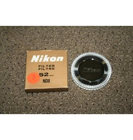 NIKON BRAND 52mm ND8 OPTICAL GLASS SCREW in FILTER GENUINE ORIGINAL