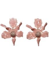 Lele Sadoughi Crystal Lily Pierced Earrings - Peach