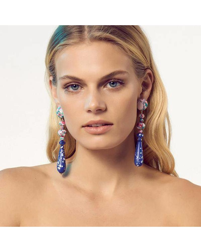 Lele Sadoughi Copacabana Earrings - Pink Confetti