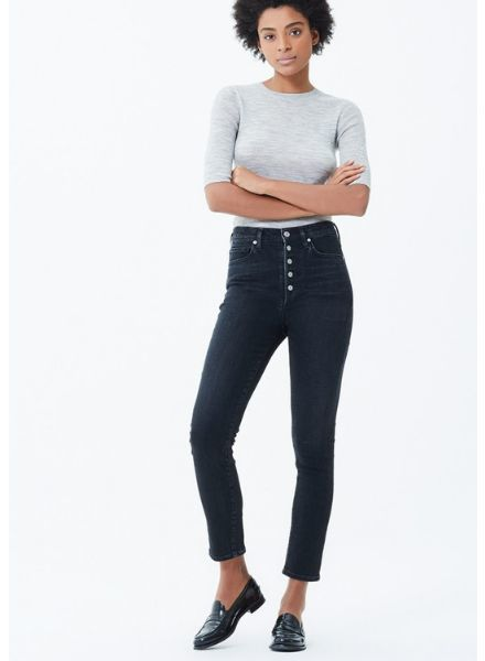 Citizen of Humanity Olivia Exposed Fly High Rise Slim Ankle