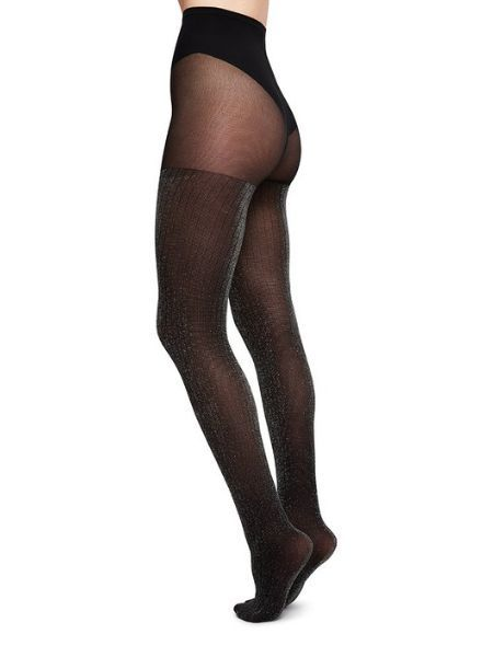 Swedish Stockings Lisa Lurex Rib Tights