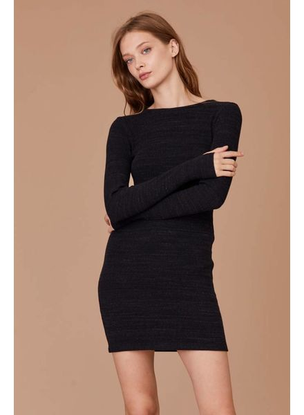 LNA Long Sleeve Slub Sweater Dress