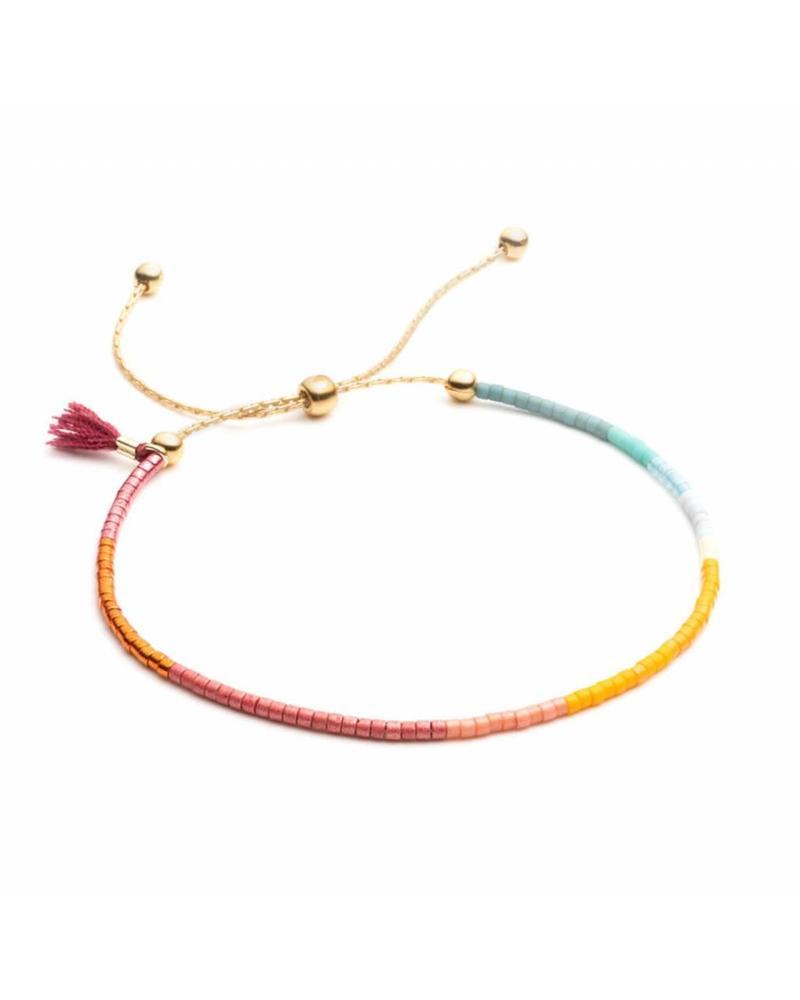 Shashi Sam Chain Bracelet Wine