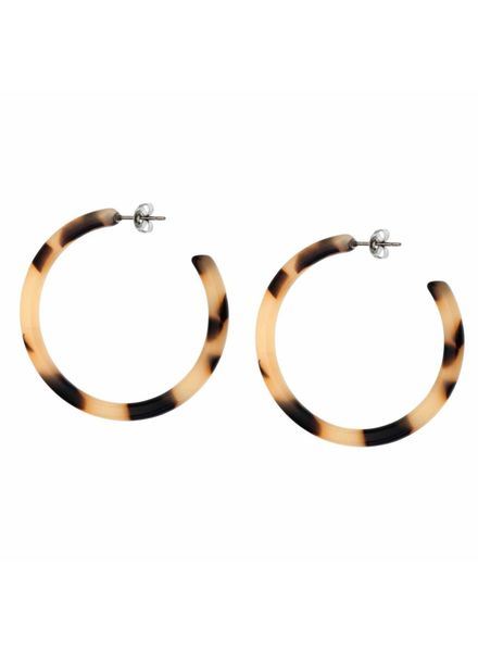Shashi Inc. Timeless Tort Hoop Earrings Cream