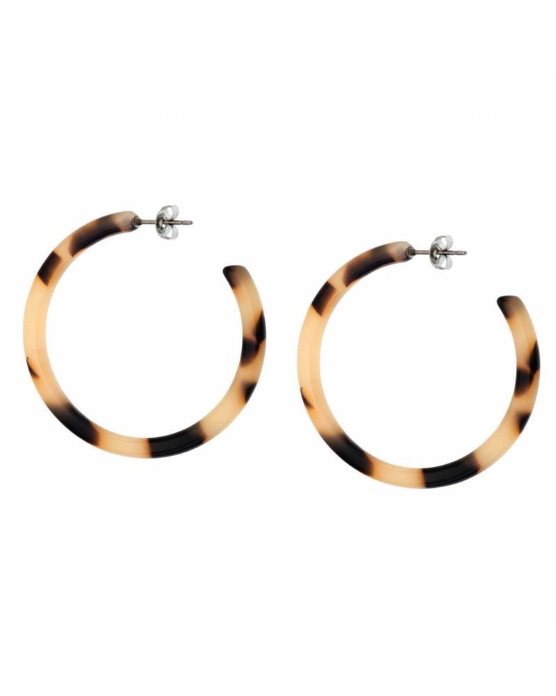 Shashi Inc. Timeless Tort Hoop Earrings Cream
