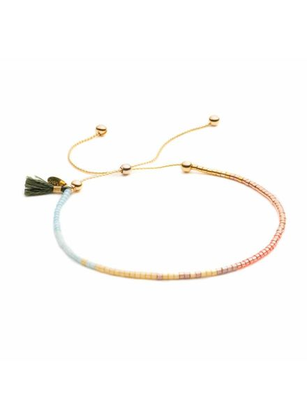 Shashi Sam Chain Bracelet Moss Green