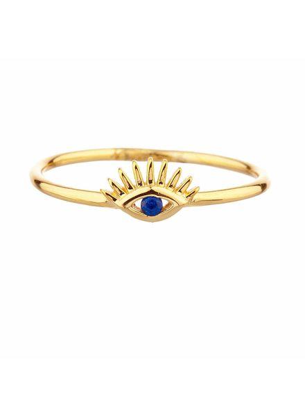 Shashi Nellie Lg Ring Yellow-Gold Size 6