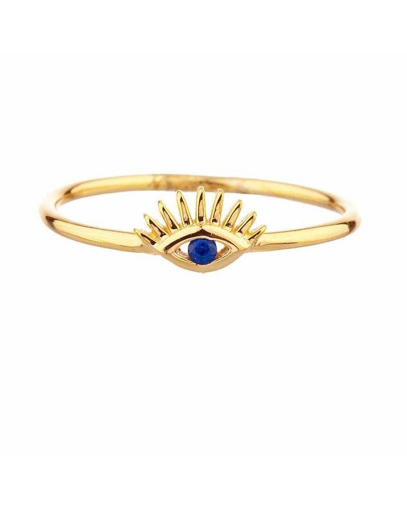 Shashi Inc. Nellie Lg Ring Yellow-Gold Size 7