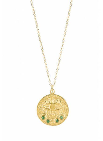 Hermina Wristwear Kressida Small Pendant Green