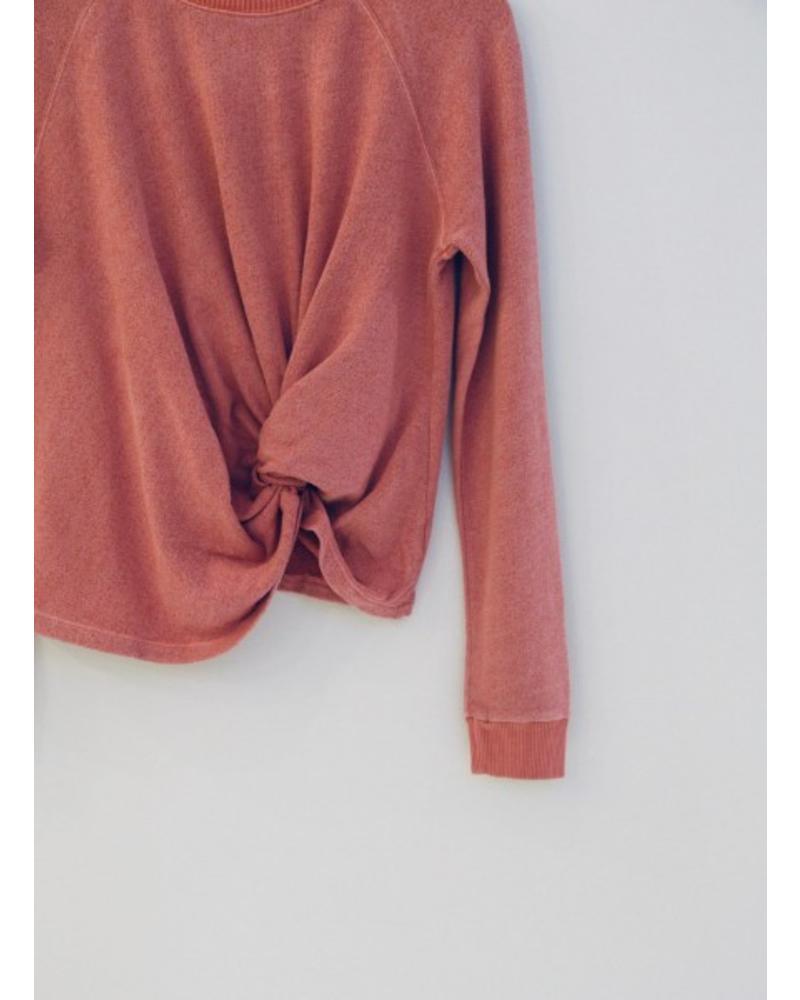 Monrow Sweatshirt with Front Twist