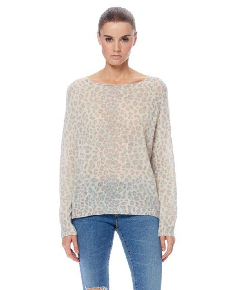 360 Sweater Irina Crew Neck Leopard Cashmere