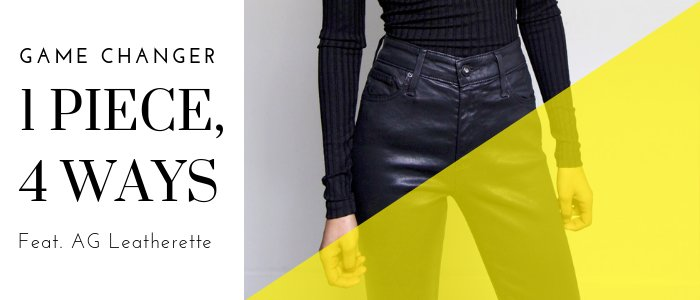 1 piece, 4 ways - The Skinny Leatherette