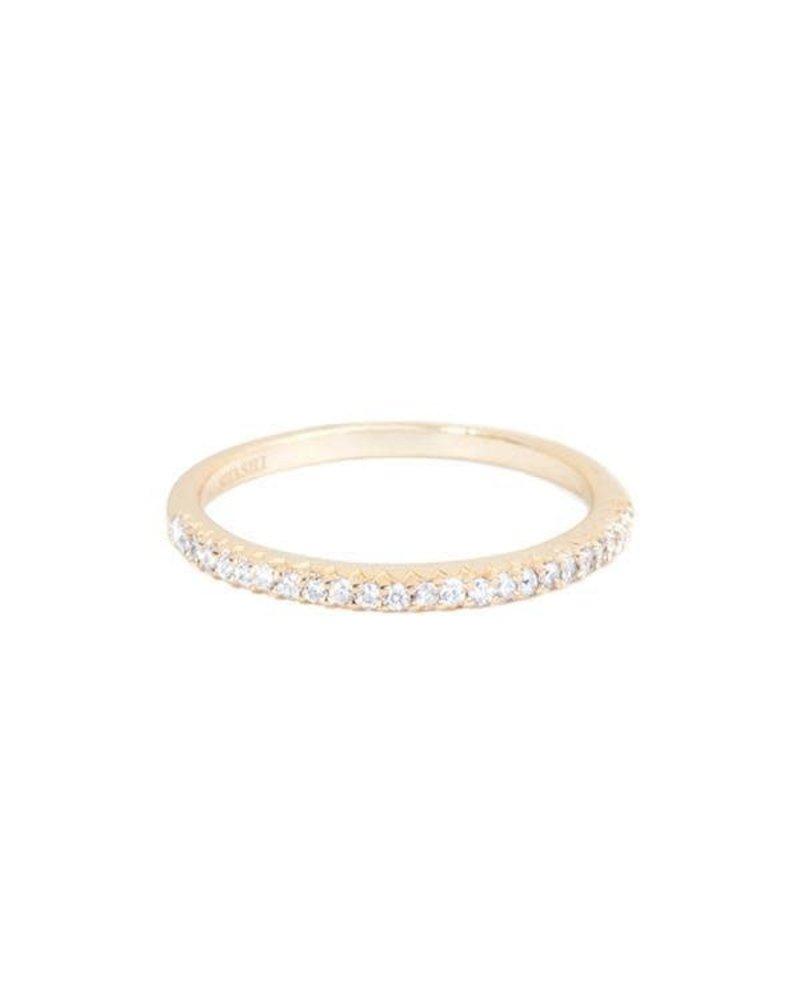 Shashi Diamond Bar Ring