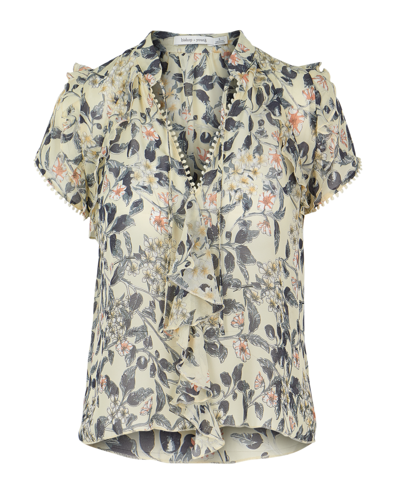Bishop & Young Chrissy Floral Ruffle Sleeve
