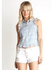 Bella Dahl Ruffle Tank Button Down