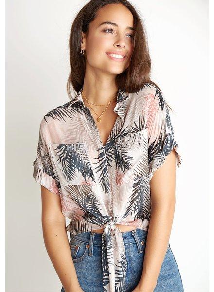 Bella Dahl Cap Sleeve Tie T-Shirt