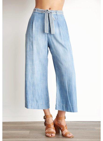 Bella Dahl Belted Crop Wide Leg Trouser